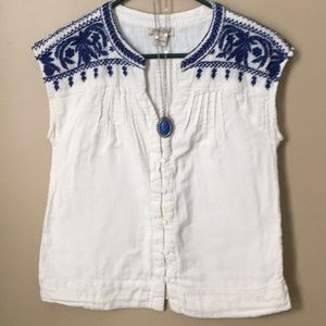 Lucky brand button front top